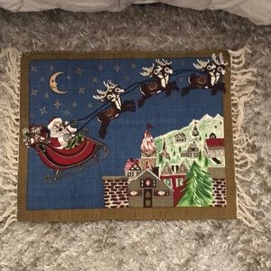 NWT Hand made Christmas rug 22x34